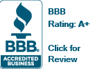 Better Business Bureau Accredited Business Logo A+ Rating