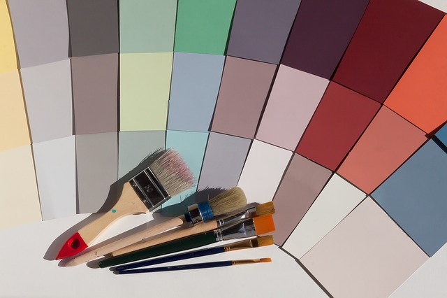 paint chips and brushes colour trends
