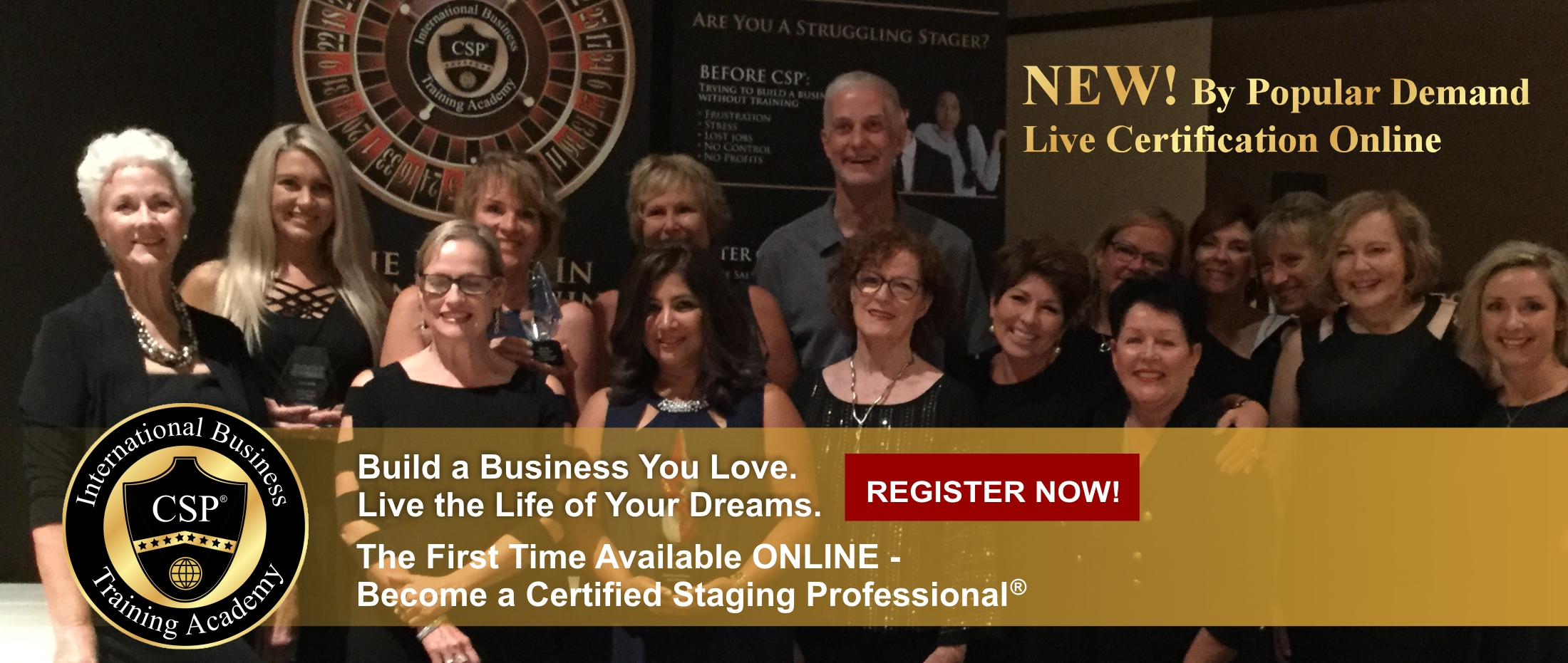 csp live certification banner with csp grads