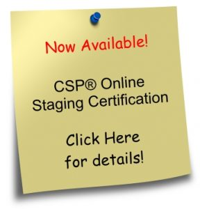 post-it-note - now available online staging certification