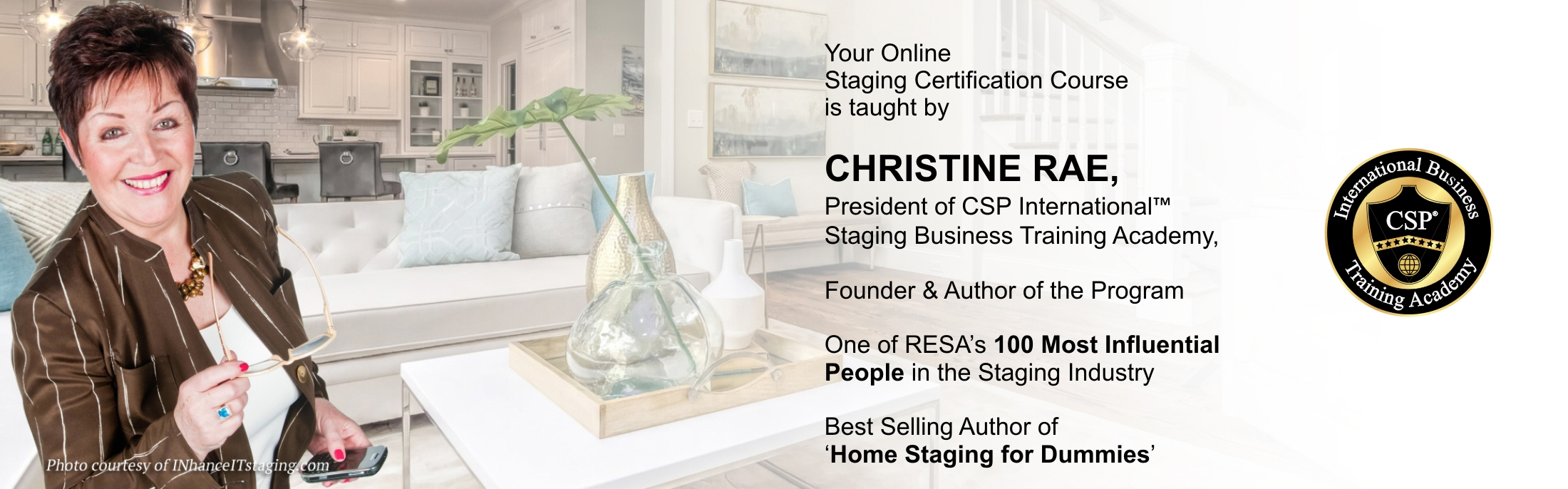 Christine Rae teaches online staging certification