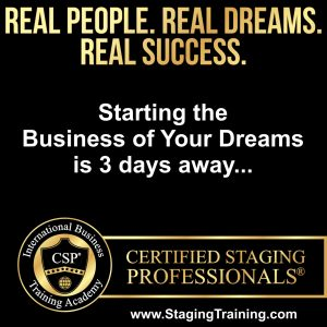 your staging career is just 3 days away