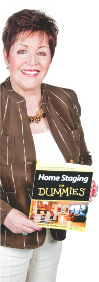Christine Rae with her book Home Staging for Dummies