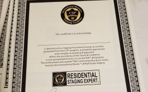 csp residential staging exerpt certificate