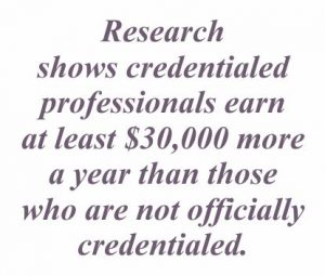 image - credential professionals earn $30,000/yr more than non-credentialed