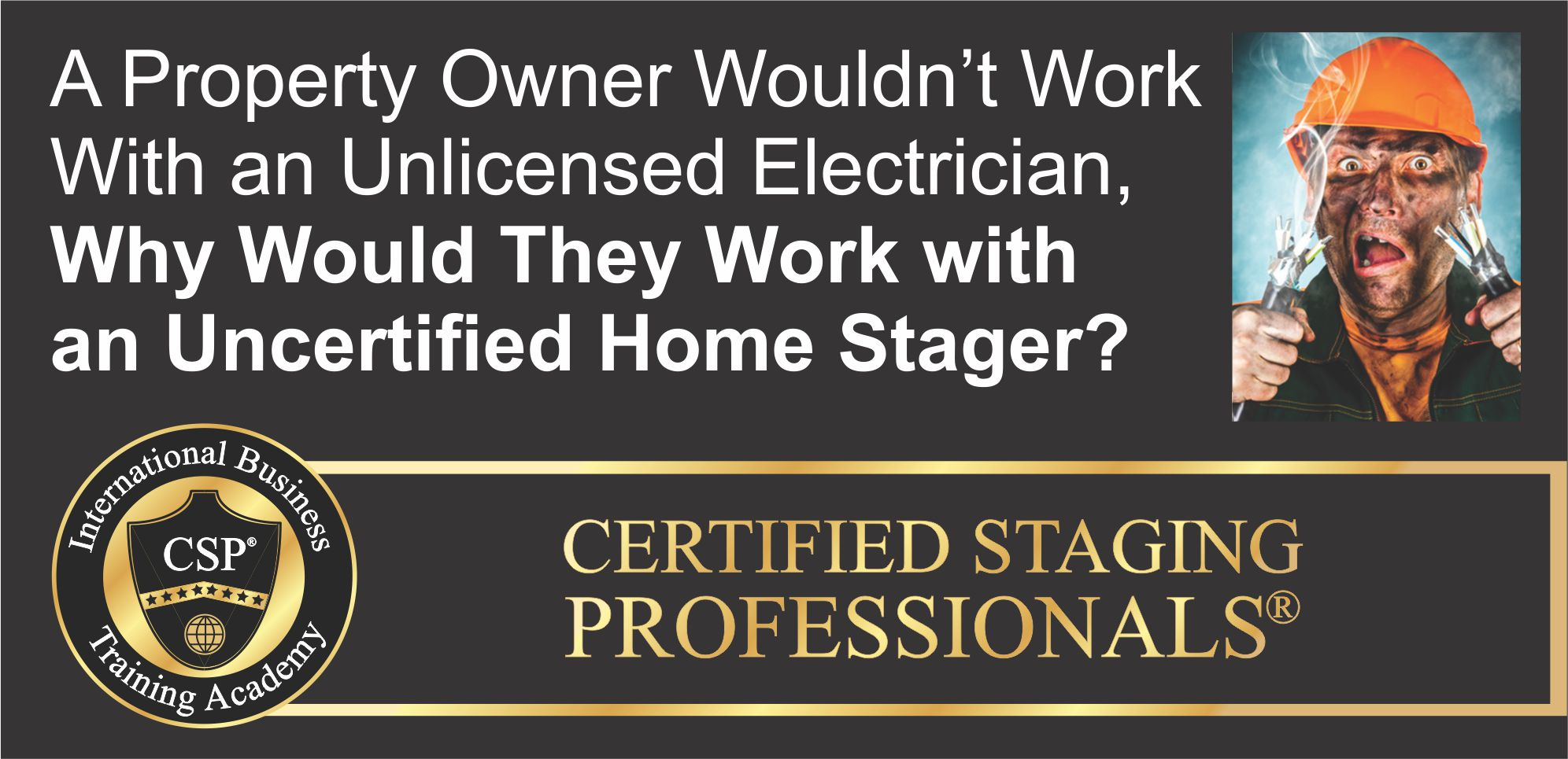 unlicensed electrician comparison to uncertified stager
