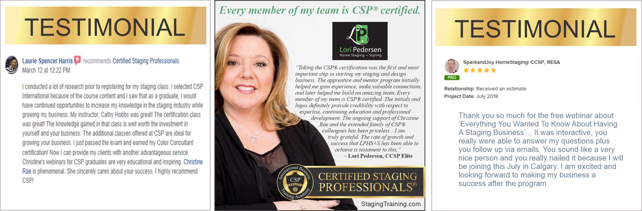 testimonials from CSPs