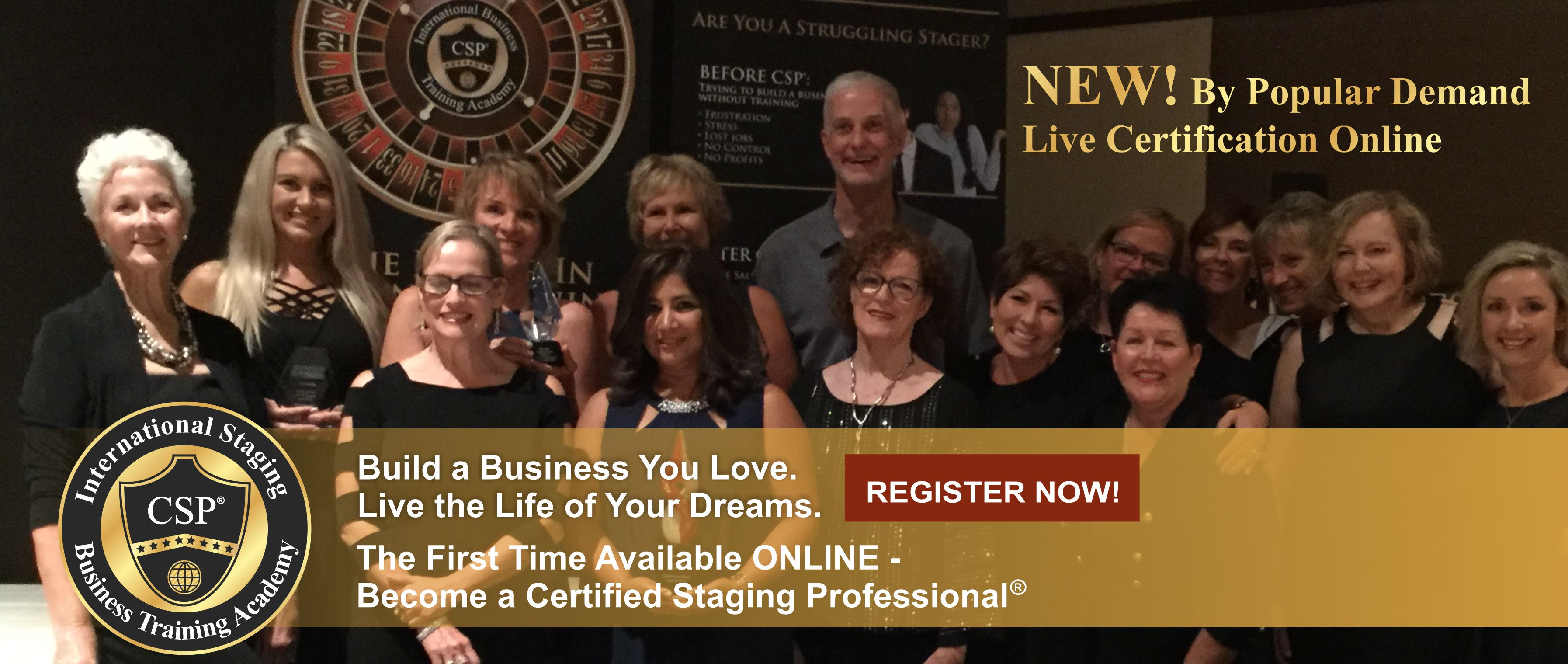 information banner for online home staging course
