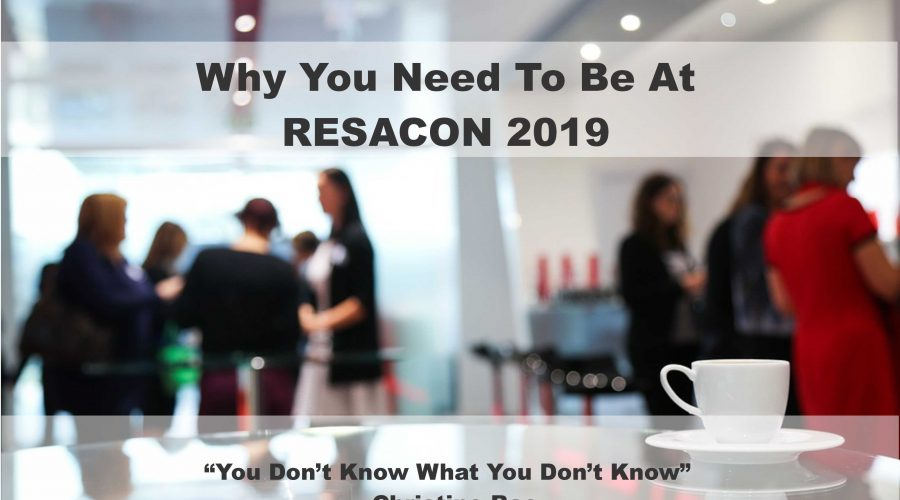 Why You Need To Attend RESACON