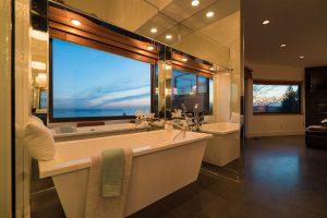 luxury staged bath