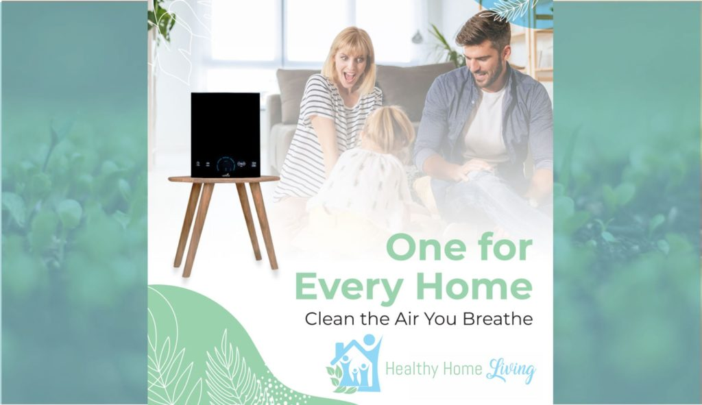 active pure air purification system with happy family