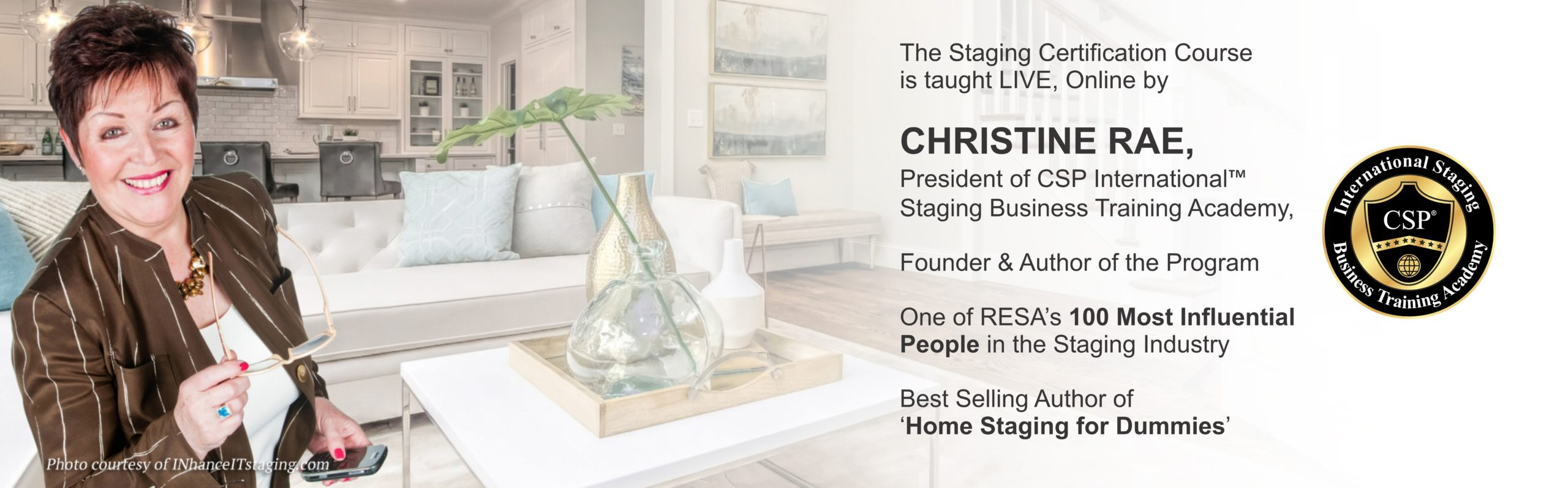 Christine Rae teaches LIVE online staging certification course