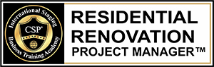 Residential Renovation Project Manager course designation logo