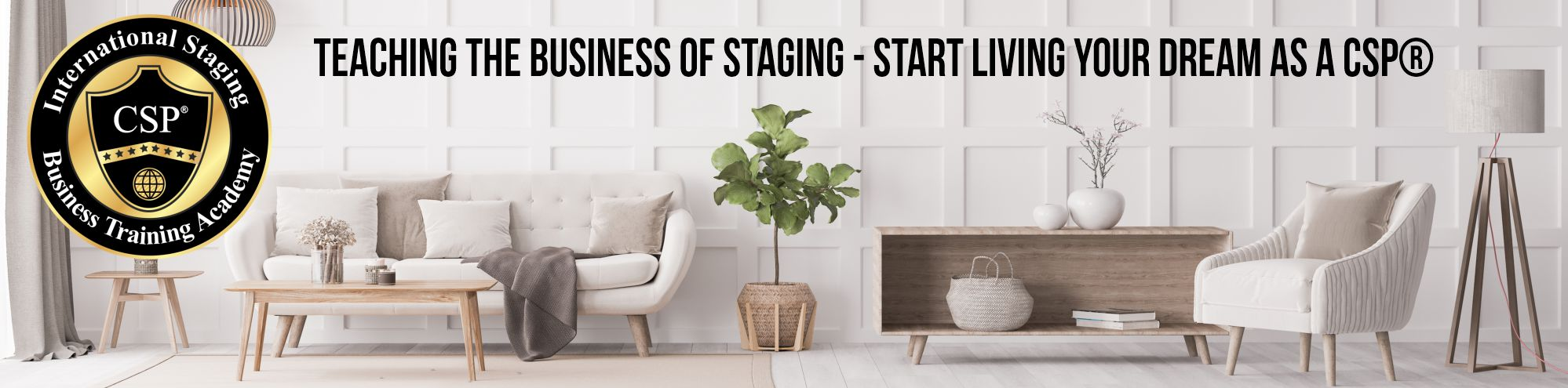 staged room - certification from the comfort of your home