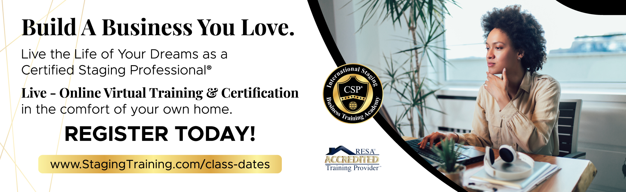 live online home staging certification training