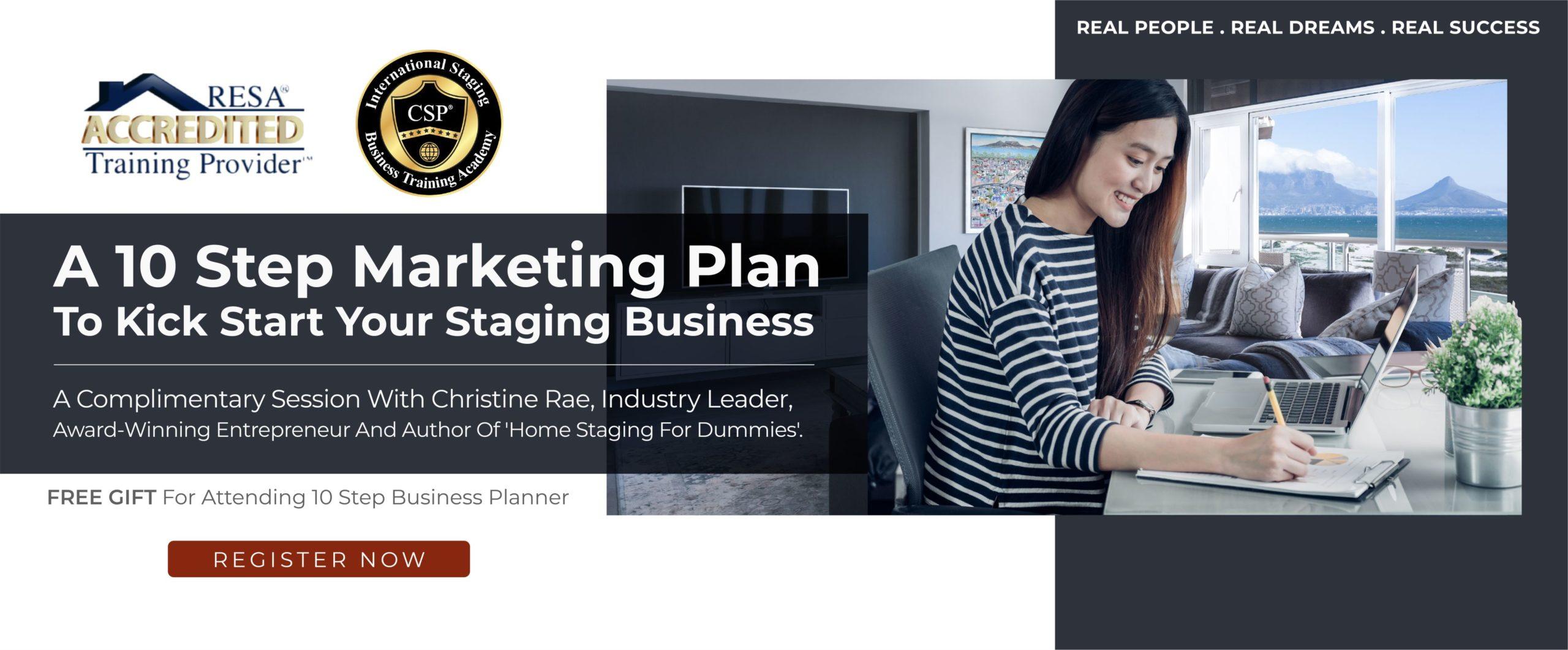 10 step home staging marketing plan webinar